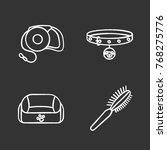 pets supplies chalk icons set.... | Shutterstock .eps vector #768275776