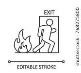 fire emergency exit door with... | Shutterstock .eps vector #768275800