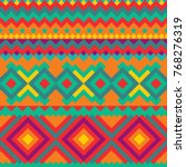 tribal mexican seamless pattern. | Shutterstock .eps vector #768276319