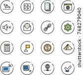 line vector icon set   arrival... | Shutterstock .eps vector #768279040