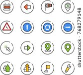 line vector icon set   sign... | Shutterstock .eps vector #768279148