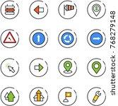 line vector icon set   sign...   Shutterstock .eps vector #768279148