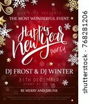 vector illustration of new year ... | Shutterstock .eps vector #768281206