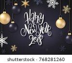 vector illustration of new year ... | Shutterstock .eps vector #768281260