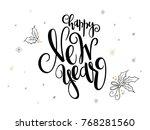 vector hand lettering new 2018... | Shutterstock .eps vector #768281560