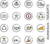 line vector icon set   passport ...   Shutterstock .eps vector #768282973
