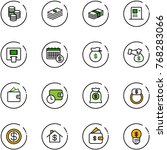 line vector icon set   coin...