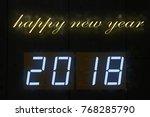 happy new year 2018 | Shutterstock . vector #768285790