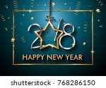 2018 happy new year background... | Shutterstock .eps vector #768286150