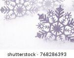 winter background with snow and ... | Shutterstock . vector #768286393