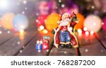 santa claus with blurred...   Shutterstock . vector #768287200