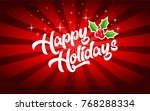 happy holidays greeting card | Shutterstock .eps vector #768288334