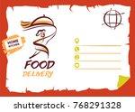 silhouette running fast man... | Shutterstock .eps vector #768291328