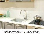 modern kitchen sinks | Shutterstock . vector #768291934