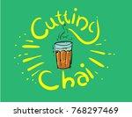 mumbai cutting chai illustration | Shutterstock .eps vector #768297469