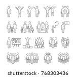people line icons  family ... | Shutterstock .eps vector #768303436