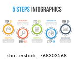 infographic template with five... | Shutterstock .eps vector #768303568