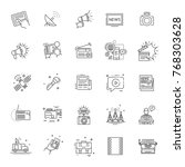 tv and media news vector icons... | Shutterstock .eps vector #768303628