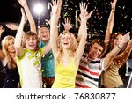 photo of excited teenagers... | Shutterstock . vector #76830877