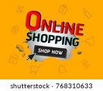sale banner vector | Shutterstock .eps vector #768310633