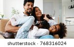 picture of happy family having... | Shutterstock . vector #768316024