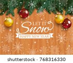 christmas card with detailed... | Shutterstock .eps vector #768316330