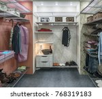 this room is a large cloakroom... | Shutterstock . vector #768319183