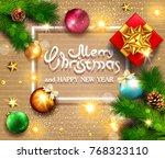 vector illustration for merry... | Shutterstock .eps vector #768323110
