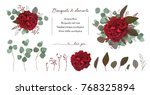 vector floral bouquet design... | Shutterstock .eps vector #768325894