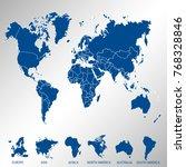 color world map vector. | Shutterstock .eps vector #768328846