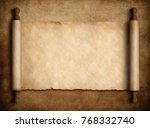 scroll parchment over old paper ... | Shutterstock . vector #768332740