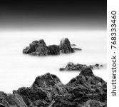 minimalist misty seascape ....   Shutterstock . vector #768333460