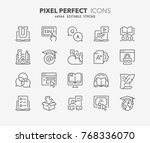 thin line icons set of e... | Shutterstock .eps vector #768336070
