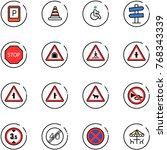 line vector icon set   parking... | Shutterstock .eps vector #768343339