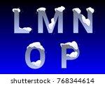 l  m  n  o  p winter letters...