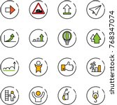 line vector icon set   right... | Shutterstock .eps vector #768347074