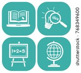 education icon set vector | Shutterstock .eps vector #768349600