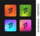ginger four color gradient app... | Shutterstock .eps vector #768353524