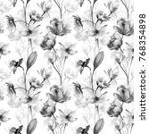 seamless pattern with original... | Shutterstock . vector #768354898
