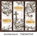 monochrome sketch cigarettes ... | Shutterstock .eps vector #768360769
