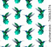 vector seamless pattern with... | Shutterstock .eps vector #768361576