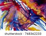abstract watercolor texture.... | Shutterstock . vector #768362233