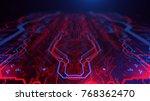 technology terminal background. ... | Shutterstock . vector #768362470