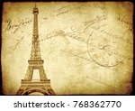vintage grunge background with... | Shutterstock . vector #768362770