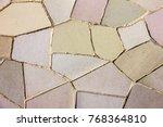 tile background broken glass... | Shutterstock . vector #768364810