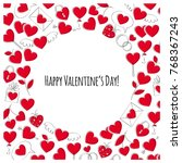 valentine's day greeting card.... | Shutterstock .eps vector #768367243