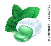 realistick chewing gum pellet...   Shutterstock .eps vector #768367480