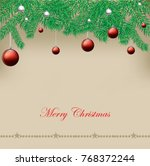 christmas background with...   Shutterstock .eps vector #768372244
