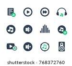 music  audio icons set on white   Shutterstock .eps vector #768372760