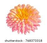 single chrysanthemum golden... | Shutterstock . vector #768373318